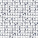 De geometrische brieven vatten naadloos patroon samen De achtergrond van het brievenalfabet Kleurrijke vormensamenstelling, moder royalty-vrije illustratie