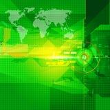 De geometrische groene kleur van de wereldkaart backgroud Stock Foto