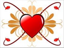 De geometrische Harten van Valentijnskaarten  Stock Afbeeldingen