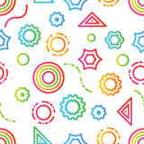 De geometrische kleur van het krabbelpatroon Stock Afbeelding