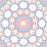 De geometrische naadloze kleur bloeit cirkelspatroon Stock Fotografie