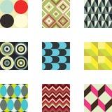 De geometrische Patronen plaatsen 1 Stock Fotografie