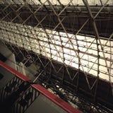 De geometrische Post van Manchester Piccadilly Royalty-vrije Stock Foto's
