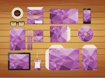 de geometrische purpere zaken van de merkidentiteit royalty-vrije illustratie