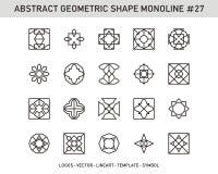 De geometrische Reeks van de Elementenvorm Stock Foto