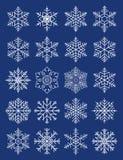 De geometrische sneeuwvlokken van de samenstelling Stock Afbeeldingen