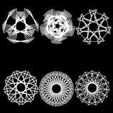 De geometrische symmetrie van de patroonastrologie Stock Foto's