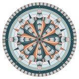 De geometrische symmetrie van het mandalaornament royalty-vrije illustratie