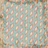 De geometrische uitstekende achtergrond van de grungeruit Royalty-vrije Stock Afbeeldingen