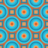 Retro Naadloze Patroon van het Behang Royalty-vrije Stock Afbeelding