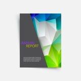De geometrische vormen van het dekkingstijdschrift informatie-grafisch voor bedrijfsontwerpachtergrond stock illustratie