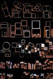 De geometrische vormen van de metaalbuis royalty-vrije stock foto's
