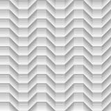 De geometrische zwarte stelde de kubieke naadloze lijnen van het golvenpatroon in de schaduw Stock Fotografie