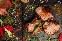 De Georgische nationale keuken van het Shashlikgedeelte Stock Foto's