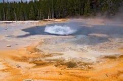 De geothermische geiser van Yellowstone stock fotografie