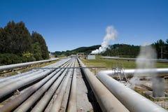 De geothermische krachtcentrale van Wairakei, Nieuw Zeeland Royalty-vrije Stock Afbeelding