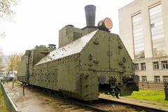 De gepantserde Russische locomotief van WO.II Stock Afbeeldingen