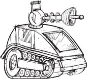 De gepantserde Schets van het Tankvoertuig Royalty-vrije Stock Foto's