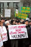 De gepensioneerden protesteren royalty-vrije stock fotografie