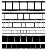 De geplaatste film en de zegels van stroken Royalty-vrije Stock Fotografie
