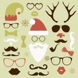 De geplaatste hipster stijl van de Kerstmismanier silhouet Royalty-vrije Stock Fotografie