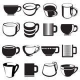 De geplaatste pictogrammen en de tekens van de kop Vector Illustratie