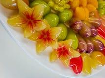 De geplateerde desserts royalty-vrije stock afbeeldingen