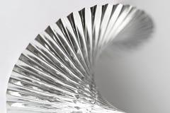 De geplooide Zilveren Close-up van de Slinger van de Partij Royalty-vrije Stock Afbeelding