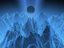 De geproduceerde bergen van de fantasie computer Stock Illustratie