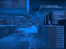 De geproduceerde bluye kubussen van de fantasie computer Stock Afbeeldingen