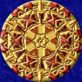 De geproduceerde textuur van het Jewelledmetaal orb Stock Afbeelding