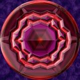 De geproduceerde textuur van het Jewelledmetaal orb royalty-vrije illustratie