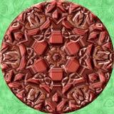 De geproduceerde textuur van het Jewelledmetaal orb Stock Fotografie