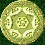 De geproduceerde textuur van het Jewelledmetaal orb vector illustratie