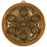 De geproduceerde textuur van het Jewelledmetaal orb stock illustratie