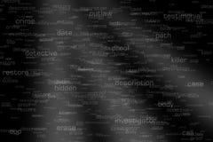 De gerechtelijke Termijnen en Verbindingen van de Verbindingsanalyse Stock Fotografie