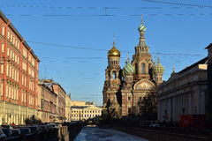De geredde Orthodoxe Keizer Alexander II van heilige Petersburg royalty-vrije stock foto's