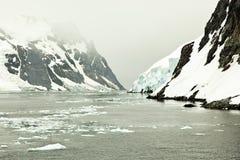 De Gerlache Strait, Antarktis arkivfoto