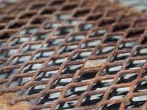 De geroeste rooster van het staalafvoerkanaal Royalty-vrije Stock Afbeeldingen