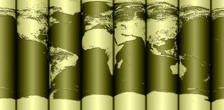 De gerolde kaart van de Aarde vector illustratie