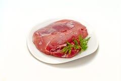 De gerookt ham van het varkensvlees voor het koken Stock Afbeelding