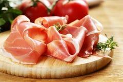 De gerookte ham van Parma Stock Afbeelding