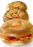 De gerookte Ongezuurde broodjes van de Zalm Royalty-vrije Stock Afbeelding