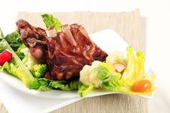 De gerookte Ribben van het Varkensvlees Stock Fotografie