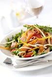 De gerookte Salade van de Zalm Royalty-vrije Stock Afbeeldingen