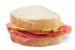 De gerookte Sandwich van het Vlees Royalty-vrije Stock Afbeelding