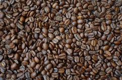 De geroosterde achtergrond van koffiebonen royalty-vrije stock afbeelding