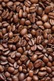 De geroosterde achtergrond van koffiebonen Bruine Textuur dranken stock fotografie