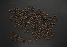 De geroosterde achtergrond van koffiebonen stock fotografie