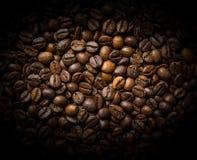 De geroosterde Bonen van de Koffie Royalty-vrije Stock Afbeeldingen